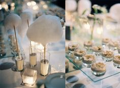white cotton candy for winter wedding candy table add on