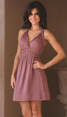 Angie Clothing Womens Sundress Dress Red White Striped Summer Sexy Lightweight | eBay