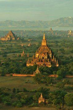 Ancient Bagan city of 11th century. Bagan, Myanmar