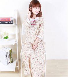 Aliexpress.com: Kaufen Sie Spitze Lange Nachthemd Für Frauen Frühling Woven Baumwolle Lange Nachthemden Blumen Schlaf Sleep von zuverlässigen Lieferanten auf Sakura Attitude Clothing Store.