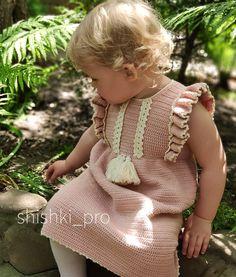 Crochet For Kids, Crochet Baby, Baby Dresses, Marketing And Advertising, Crochet Patterns, Etsy Seller, Handmade Items, Clothes, Ideas