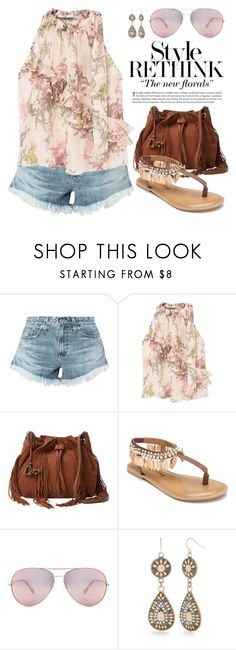 """""""Ruffled Top 3837"""" by boxthoughts ❤ liked on Polyvore featuring AG Adriano Goldschmied, MANGO, Diane Von Furstenberg, Penny Loves Kenny, Oliver Peoples, Red Camel and Victoria's Secret"""