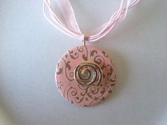 Washer pendant necklace by shootingstar143 on Etsy, $15.00
