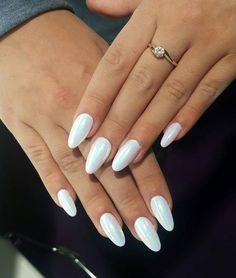 Mermaid Effect Nails #nailart #white