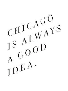 Oh yes, I agree! One of my favorite cities! #Chicago
