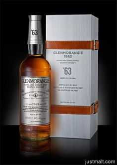 """World's First"" Extra Matured Single Malt Scotch Whisky Discovered in Highland Warehouses - Glenmorangie 1963:"