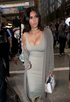 Kim Kardashian Photos - Kim Kardashian and Kanye West Hit LAX - Zimbio
