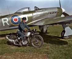 Ww2 Aircraft, Military Aircraft, Hawker Tempest, Hawker Typhoon, Norton Motorcycle, Airplane Pilot, Fighter Pilot, Royal Air Force, Military Photos