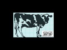 I stitched this one recently!  Free Cow cross stitch pattern by Brigitte Dadaux