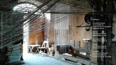 installatie Spinsels: Ine van Son, Kunstschouw 2017 Burgh-Haamstede – gedicht en foto: Marion Steur  Kijk ook op https://www.youtube.com/watch?v=1_xTh8RcLgs