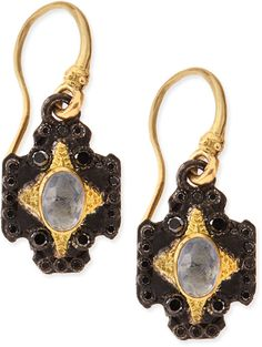 Armenta Old World Midnight Cross Earrings with Kyanite & White Diamonds on shopstyle.com