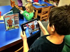 1st Graders Share their Favorite Books with Tellagami app http://vanmeterlibraryvoice.blogspot.ca/2014/02/our-first-graders-share-their-favorite.html