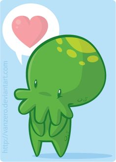 cthulhu by =julianvanbores on deviantART More like CUTEthulhu! :D