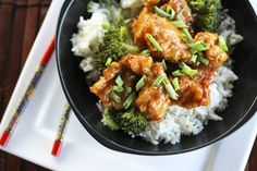 general tso's chicken. so much better and healthier than the take out version. and really really easy to make.