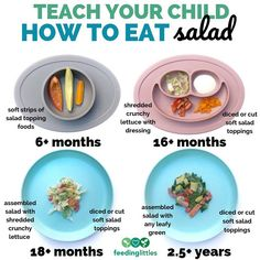 Teach your child how to eventually eat a salad! 🥗 Tag a salad lover and tell us your favorite salad combo! Baby Led Weaning Breakfast, Baby Led Weaning First Foods, Weaning Foods, Baby First Foods, Baby Weaning, Baby Finger Foods, Toddler Meals, Kids Meals, Toddler Food