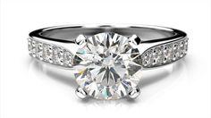 Zásnubný prsteň s brilliantom z ružového zlata Engagement Rings, Jewelry, Jewellery Making, Enagement Rings, Jewelery, Engagement Ring, Jewlery, Jewels, Diamond Engagement Rings