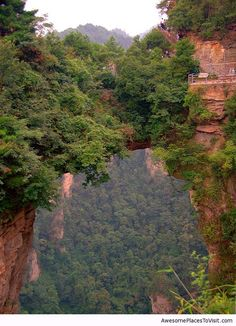 Tianzi Mountains, China | Today, the layer of quartz rocks as old as 380 million years old, as thick as 500 or 600 meters, caps the Tianzi Mountain. The several high steep stone peaks erecting on the ground with precipitous four walls and appearances is nothing short of the secret workings of nature.