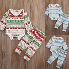 Newborn Baby Girl Boy Clothes Set Christmas Romper Tops Pants 2pcs Outfits Xmas Clothing Set Pajamas Costume #>=#>=#>=#>=#> Click on the pin to check out discount price, color, size, shipping, etc. Save and like it!