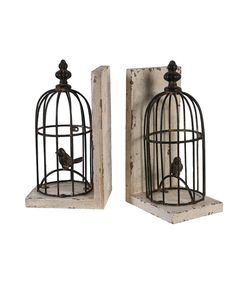 Look at this Birdcage Bookend - Set of Two on #zulily today!