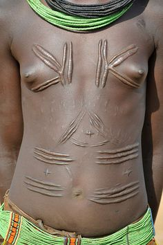Africa | Toposa girl's tribal scarification.  South Sudan. | ©World Discovery, via flickr
