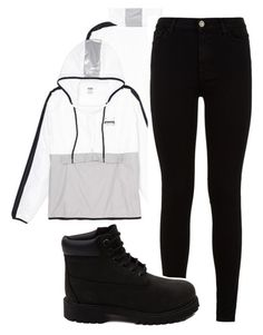 MYFRIENDASHAYLAOOTD by fashionqueen06 on Polyvore featuring polyvore fashion style 7 For All Mankind Timberland clothing