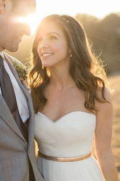 Stunning Magic Hour Wedding Portraits | Carlie Statsky Photography | Earthy and Organic Wedding Shoot in Soft Neutrals and Copper