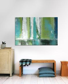 Large+Abstract+Schilderij++Digital+Green+Forrest++by+RonaldHunter,+$259.00