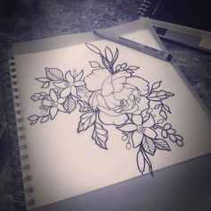 My apologies to everyone for everyone who is waiting for drawings. I have a lot going on this week. This is for Crystal. #aceshightattoo #aceshightattoos #aceshightattooshop #peonies #peonytattoo #tattoo #orangeblossomtattoo #cattail #cattailtattoo