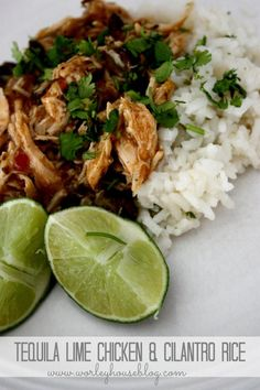 tequila lime chicken with cilantro rice