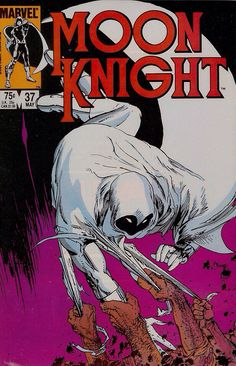 Moon Knight #37, 1984. Cover by Michael Kaluta.