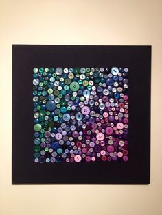 Button canvas. ~I like the ombre effect.~