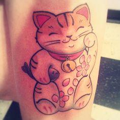 good fortune cat tattoo - Google Search