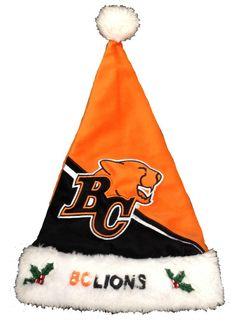 BC Lions Santa Hat