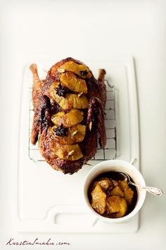 Pieczona Kaczka  Roasted Duck with caramelized Pineapples