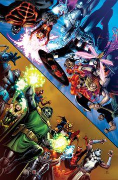Avengers and X-Men Axis Marvel) Marvel Comic Universe, Marvel Comics Art, Marvel Comic Books, Marvel Heroes, Anime Comics, Comic Books Art, Marvel Avengers, Univers Marvel, Young Guns