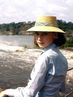 Audrey Hepburn photographed by Leo Fuchs during the filming of The Nun's Story in the Congo, 1958.