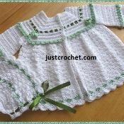 JC80A Coat + Bonnet Baby Crochet Pattern - via @Craftsy
