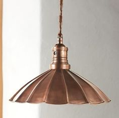 copper three light fixture kitchen | Found on sundancecatalog.com