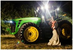 Southern Barn Wedding - Oh my!!! This will be the one picture my fiancé smiles in, the one with his tractor he wants so badly! : ) haha