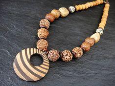 Seed Bead Necklace Batik Necklace Semi-Precious Stones Ethnic