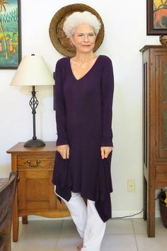 Vogue 9224 Handkerchief Hem Knit Tunic