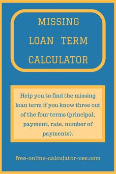 This Easy Loan Calculator Will Help You To Quickly Calculate The