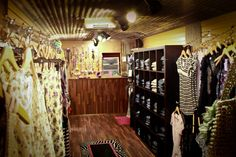 cool inside of a vintage camper/van for mobile boutique