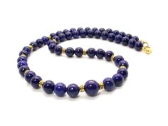 Delta Blues Lapis Lazuli Men's Necklace, Men's Blue Necklace, Lapis Lazuli Men's Beaded Necklace by DesignedByAudrey™ on Etsy