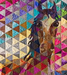 Detail, commissioned quilt by Nicole Dunn