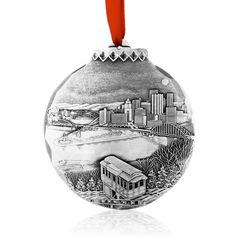 My Home Town Ornament by Linda Barnicott
