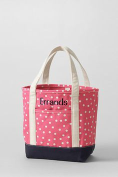 Print Medium Open Top Canvas Tote Bag - BLACK Lands End UzFJK