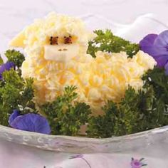Woolly Butter Lamb~ what a darling way to use butter at the Easter table  i made this last year, not hard at all This is from Taste of Home