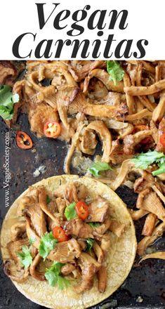 Easy Vegan Carnitas Recipe, Plant Based & Gluten Free | VeggieSociety.com @VeggieSociety #vegan #plantbased