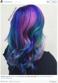 Galaxy Hair is The New Trend in Hair Color and It's Out of This World!